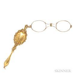 Art Nouveau Gold Lorgnette