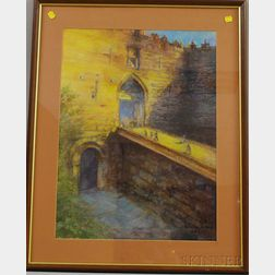 Two Framed Landscapes:      Claire Murtha Henkel (American, 20th/21st Century), Hadrian's Gate