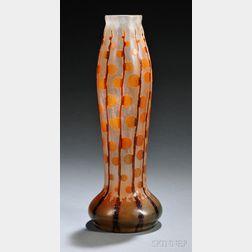 Le Verre Francais Monnaies du Pape Cameo Glass Vase