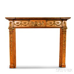 Adam's-style Carved Pine Mantel
