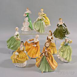 Ten Royal Doulton Figures