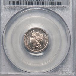 1883 Three Cent Nickel Trime, PCGS PR65CAM CAC.