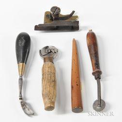 Five Leatherworker's Tools