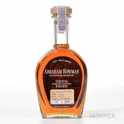 Abraham Bowman Wheat Bourbon 11 Years Old 2007, 1 bottle