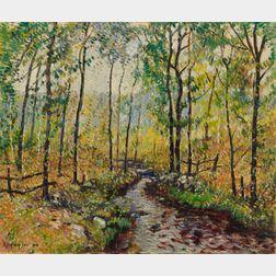 Guy Carleton Wiggins (American, 1883-1962)      Brook in Spring