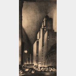 Louis Lozowick (Russian/American, 1892-1973)      57th Street