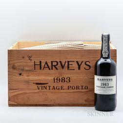 Harveys Vintage Port 1983, 12 bottles (owc)