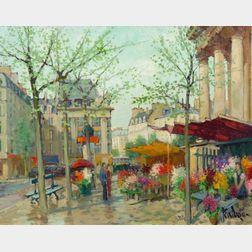 Constantin Kluge (French, b. 1912)    Le Marche de la Madeleine