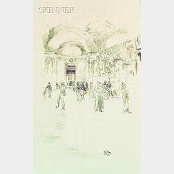 James Abbott McNeill Whistler (American, 1834-1903)      The Long Gallery, Louvre