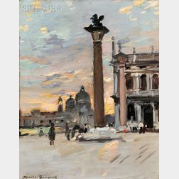 Maurice Bompard (French, 1857-1936)      Piazza San Marco, Sunset