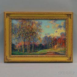 Frederick Mortimer Lamb (American, 1861-1936)      Autumn Landscape.