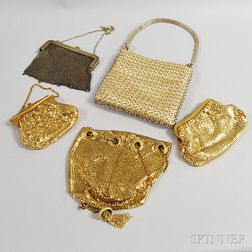Three Vintage Whiting & Davis Metal-mesh Purses