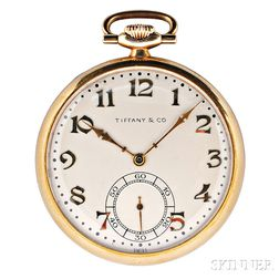 14kt Gold Open Face Pocket Watch, Tiffany & Co.