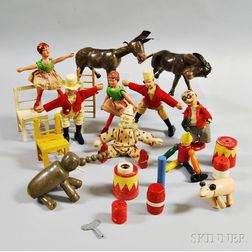 Carved and Painted Wood Circus Toys