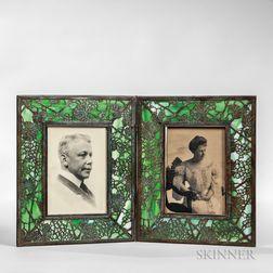Tiffany Studios Grapevine Pattern Double Frame