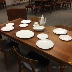 "Modern Royal Worcester ""Snow"" Ceramic Dinnerware Service"