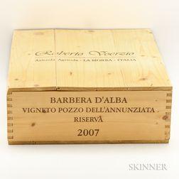 Voerzio Barbera dAlba Riserva Vigneto Pozzo dellAnnunziata 2007, 3 magnums (owc)