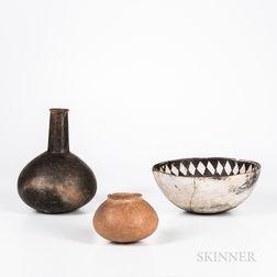 Three Prehistoric Pottery Pieces