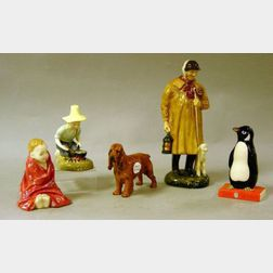 Five Assorted Royal Doulton Figures