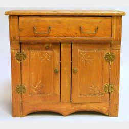 Childs Toy Carved Ash Commode.