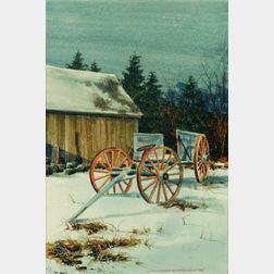Donald Allen Mosher (American, b. 1945)    Winter's Rest