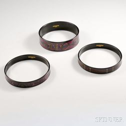 Three Hermes Enameled Bangles