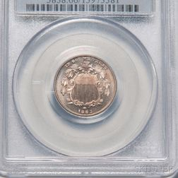 1883 Five Cent Shield Nickel, PCGS PR66 CAC.