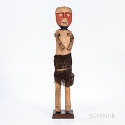 Peruvian Carved Wood Figure
