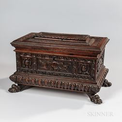 Carved Hardwood Document Box