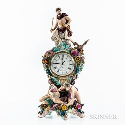 Meissen Porcelain Mythological Mantel Clock