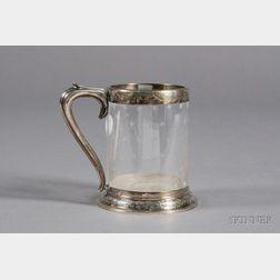 Victorian Silver and Cut Glass Mug