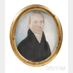 Portrait Miniature of Captain Nathaniel Coit Allen