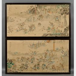 Pair of Chinese Framed Paintings