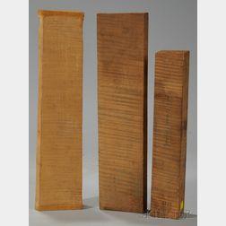 Three Maple Viola Neck Blocks.