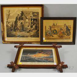Three Framed Lithographs