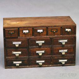 Oak Countertop File Cabinet