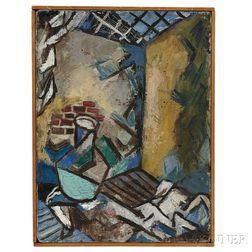Hyde Solomon (American, 1911-1982) Painting      Interior/Exterior