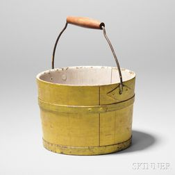 Shaker Yellow-painted Pail