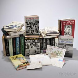 Updike, John (1932-2009) A Collection of Approximately Fifty-three Titles, Most Signed with Letters Inserted.