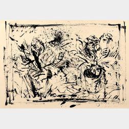 Jim Dine (American, b. 1935)      The Jerusalem Plant #6