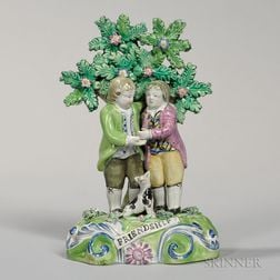 "Walton Pearl-glazed Earthenware Bocage ""Friendship"" Group"