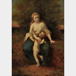 Narcisse Virgile Diaz de la Peña (French, 1808-1876)      Mother and Child (possibly Venus et l'Amour  )