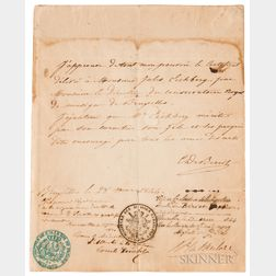 de Bériot, Charles Auguste (1802-1870) Letter of Introduction, 1844