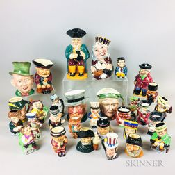 Thirty Ceramic Toby Jugs and Face Mugs