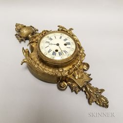 Gilt-brass Cartel Wall Clock