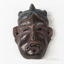 Himalayan Wood Mask, Monpa
