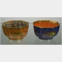 Two Wedgwood Lustre Octagonal Bowls
