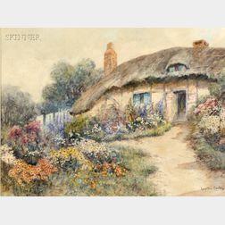Leyton Forbes (British, 1900-1925)      Cottage Garden