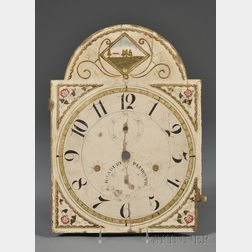Painted Wooden Clock Face