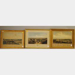 Five Framed 19th Century Prints Depicting Northeastern U.S. Views